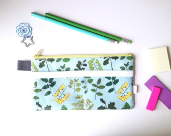 Field Guide to Trees Pencil Case with pockets (handmade philosophy's pattern)