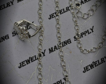 Genuine Silver Plated Swarovski Crystal Link Necklace