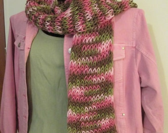 Pink Rose Camouflage Scarf