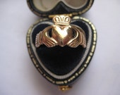 Vintage 9ct Gold Irish Claddagh Ring, Size 6.5