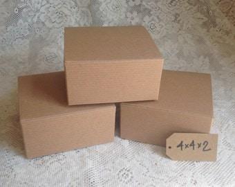 10 Kraft Gift Boxes - 4x4x2 Watches Mugs Cake