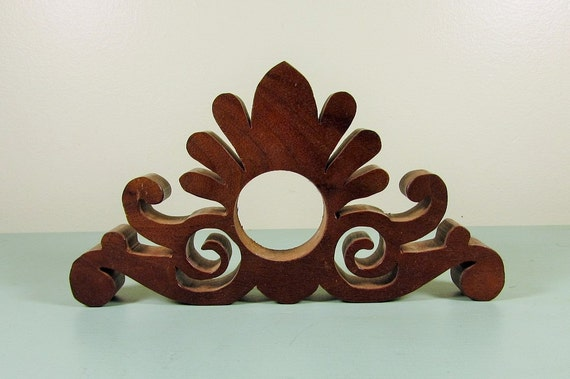 Vintage Decorative Wood Scroll Piece Part Craft Salvage