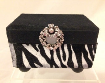 Zebra Decorative Trinket Box