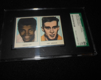 1962 Cassius Clay rookie card - boxing - Graded Near Mint 7.5 rekord journal muhammad ali
