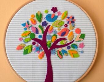 Bird Tree Applique Pattern