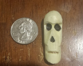 Glow in the Dark Skull Bead- handmade