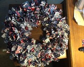 Patriotic scrap wreath
