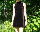 Sexy Brown Velvet Cocktail Dress - Size 8/10
