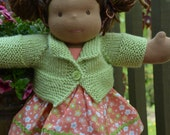 "Bamboletta 15"" Waldorf doll sweater - light green"