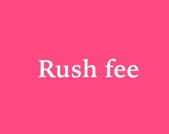 Rush fee Custom listing