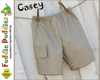 Casey...Boy's Shorts Pattern. INSTANT DOWNLOAD. Boy's Sewing Pattern. Toddler Cargo Shorts Pattern. Size 12mo-size 6.