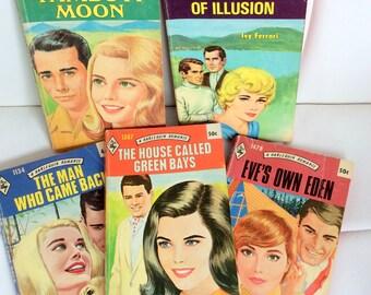 Vintage Harlequin Romance Novels 70s Set of 5
