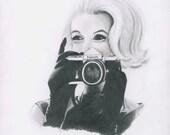 Marilyn Loves Nikon Giclee Print