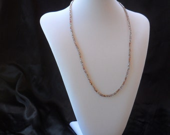 Pink Glass Bead Necklace.