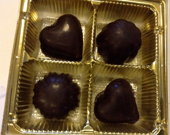 8 pc Wine Country Collection FRUIT Assortment Raw Chocolates 3.8oz NO Dairy
