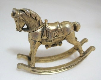 Vintage HYPNOTIQUE CORDAY Max Factor Gold Rocking Horse Solid Perfume Compact D2 Free Shipping Usa