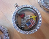 Military Support Memory Locket, Support, Keepsake, Support our troops, Gifts for her