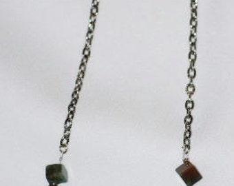 Fancy Jasper Cube Necklace