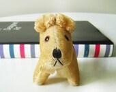Antique Scottie / Terrier mohair dog