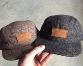 Custom 5 panel hat - camp hat - twill wool hat