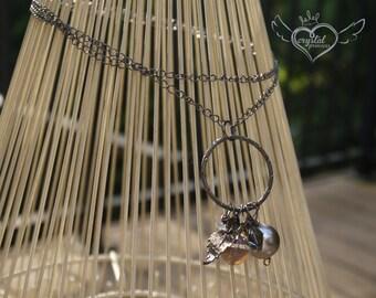 Gun Metal Charm Necklace