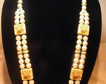 Vintage Faux Pearl Necklace Choker