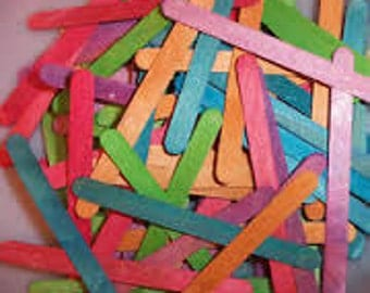 "Colored wooden popsicle craft sticks | 4.5"" x 3/8"" 