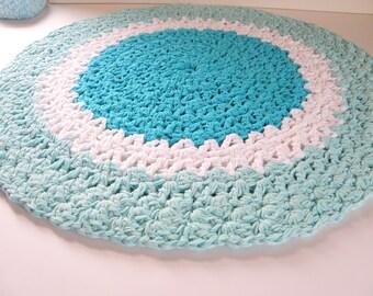 tapis de bain aqua napperon coton rond tapis de chiffon avec un design de napperon crochet. Black Bedroom Furniture Sets. Home Design Ideas