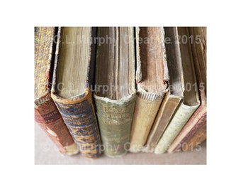 """Books Old Books Photograph Book Photography Antique Books Print 8 x 10"""""""