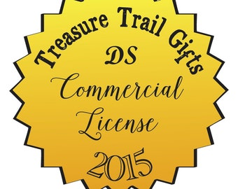 Commercial License - Digital Stamp - Treasure Trail Gifts