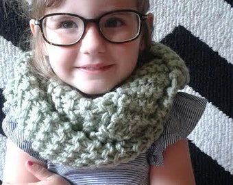 Childs Hipster Infinity Scarf Sage Green