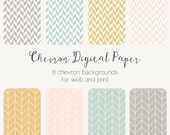 Pastel Geometric Chevron Web Tiles Digital Paper