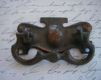 antique copper drawer pull
