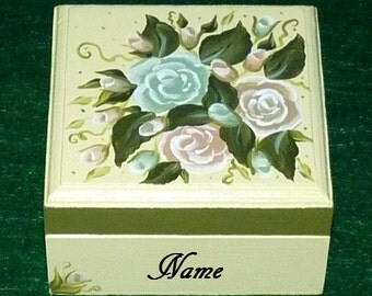 Decorative Camo Keepsake Box Hand Painted Personalized Wedding Engagement Ring Box Wood Box Ring Bearer Pillow Box Camo Wedding Gift