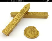 Light Gold Sealing Wax - standard or fit for glue gun (set of two) - Color C