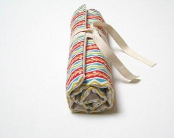 roll pencil case, fabric pencil case
