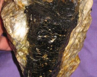 Black Tourmaline / Stones and crystals / raw Crystal / free shipping usa