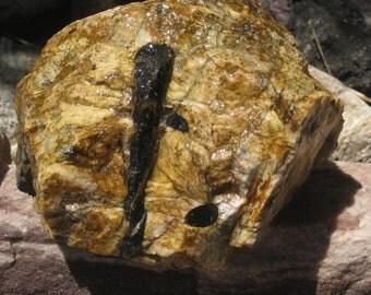 Rock crystal - Black Tourmaline Crystals