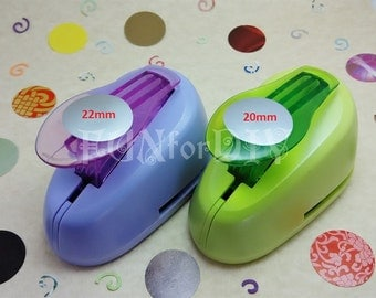 19~ 22mm large size lever type paper punch -- circle