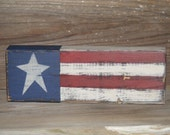 Americana Decor Handpainted 2x4 Block