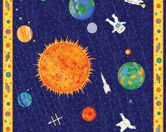 Northcott fabric etsy uk for Space fabric panel