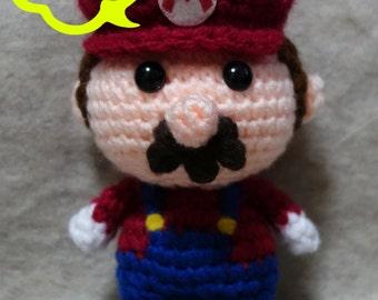 PATTERN: Crochet Amigurumi Super Mario - Mario