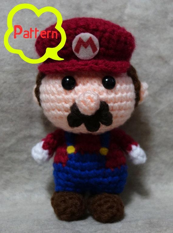PATTERN: Crochet Amigurumi Super Mario Mario