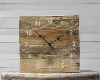 ORIGINAL Reclaimed Pallet Wood Wall Clock (Natural)
