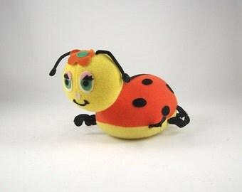 Vintage Dakin Ladybug Stuffed Toy Dreampets 1960s