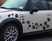 StickTak Stickers Ladybug & Flowers Scooter/Car/Window/Wall Vinyl Stickers Bumper Decal 19pcs ST1133