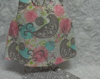 Vintage style sundress with diaper cover size 0-3 months