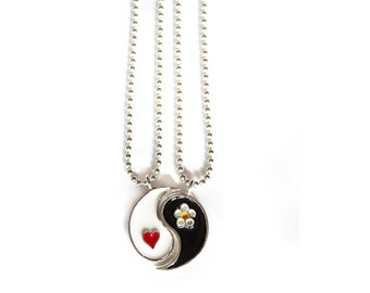 Yin Yang Friendship Necklace Come as two pieces 90s