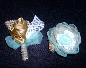 Boutonniere and Corsage in your own custom colors