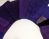Purple Fancy Fabric Kit for Crazy Quilts, Etc.